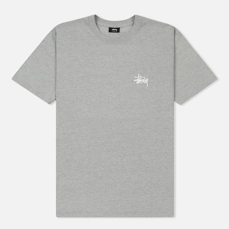 Мужская футболка Stussy Basic Stussy Grey Heather/White