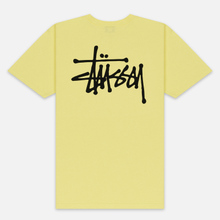 Мужская футболка Stussy Basic Stussy Lemon фото- 3