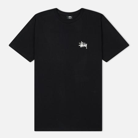Мужская футболка Stussy Basic Stussy Printed Logo Black/White