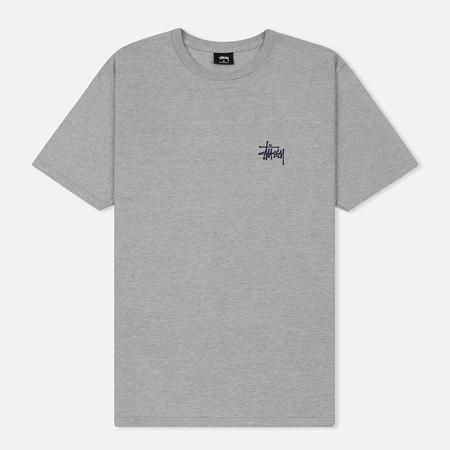 Мужская футболка Stussy Basic Stussy Printed Logo Grey Heather