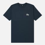Мужская футболка Stussy Basic Stussy Printed Logo Ink/White фото- 0