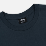 Мужская футболка Stussy Basic Stussy Printed Logo Ink/White фото- 1