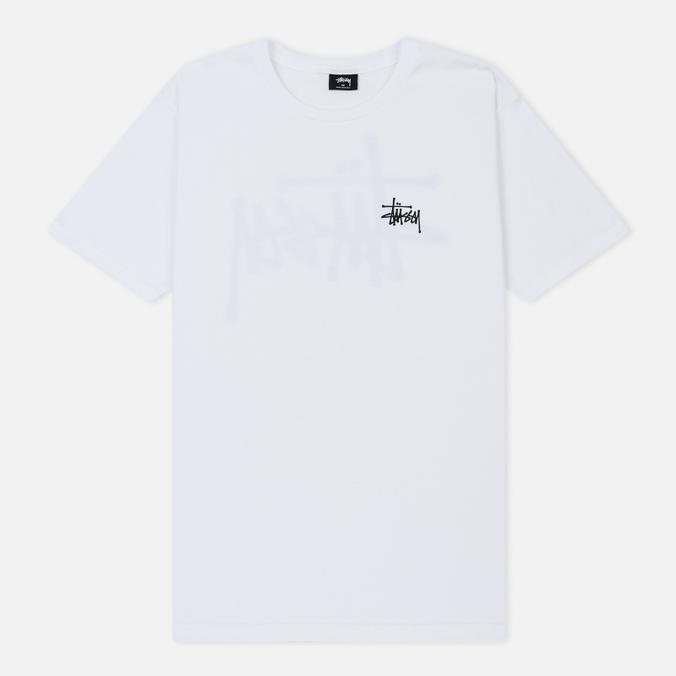Мужская футболка Stussy Basic Stussy Printed Logo White/Black
