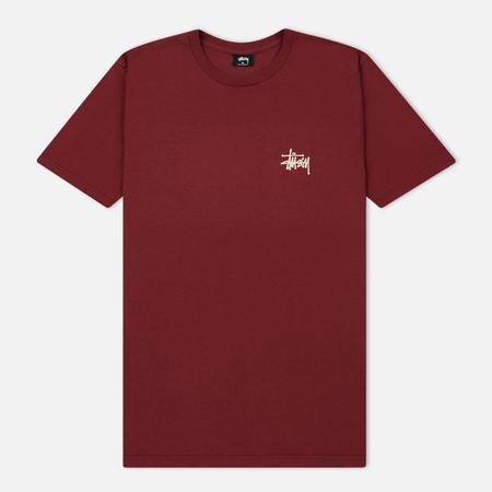 Мужская футболка Stussy Basic Stussy Printed Logo Wine