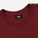 Мужская футболка Stussy Basic Stussy Printed Logo Wine фото- 1