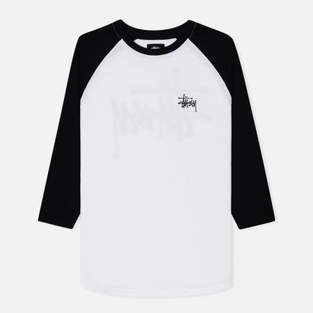 Мужская футболка Stussy Basic Stussy Raglan White/Black