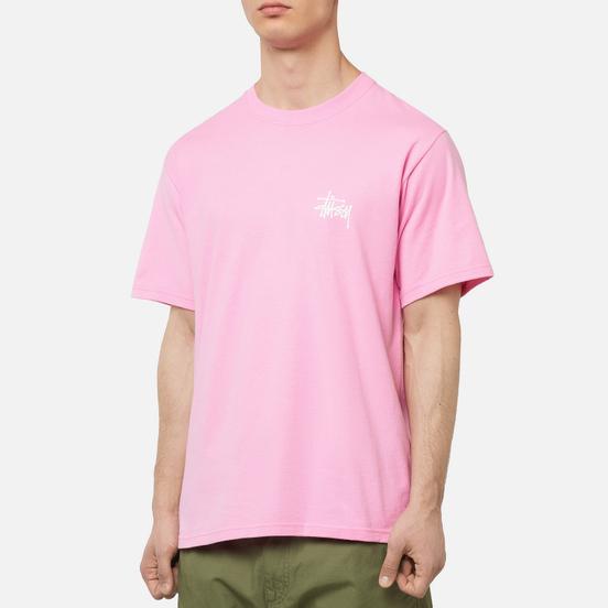 Мужская футболка Stussy Basic Stussy Screenprint Pink