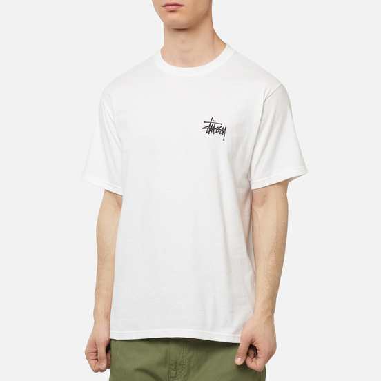 Мужская футболка Stussy Basic Stussy Screenprint White