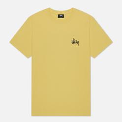 Мужская футболка Stussy Basic Stussy Screenprint Yellow