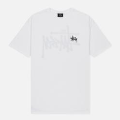 Мужская футболка Stussy Basic Stussy White