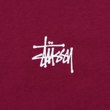 Мужская футболка Stussy Basic Stussy Wine фото- 2