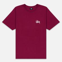 Мужская футболка Stussy Basic Stussy Wine фото- 0