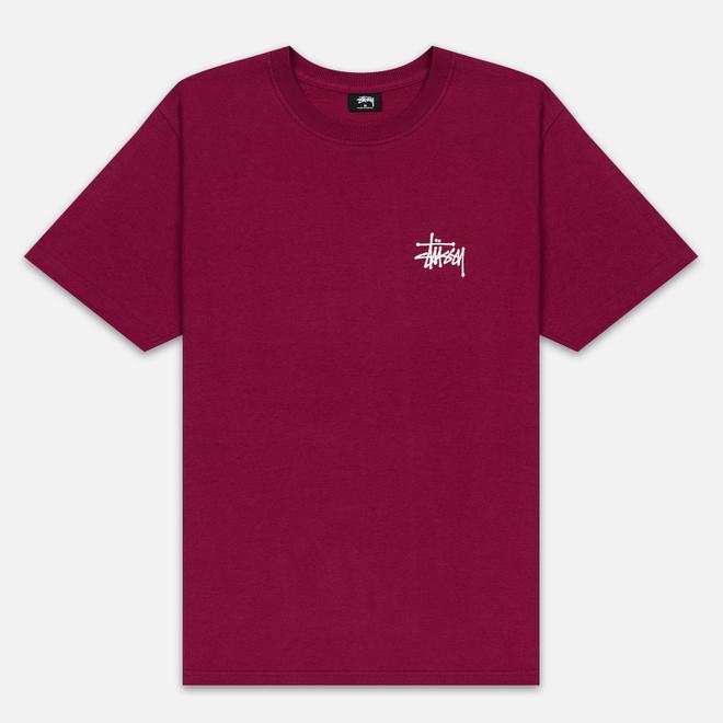 Мужская футболка Stussy Basic Stussy Wine