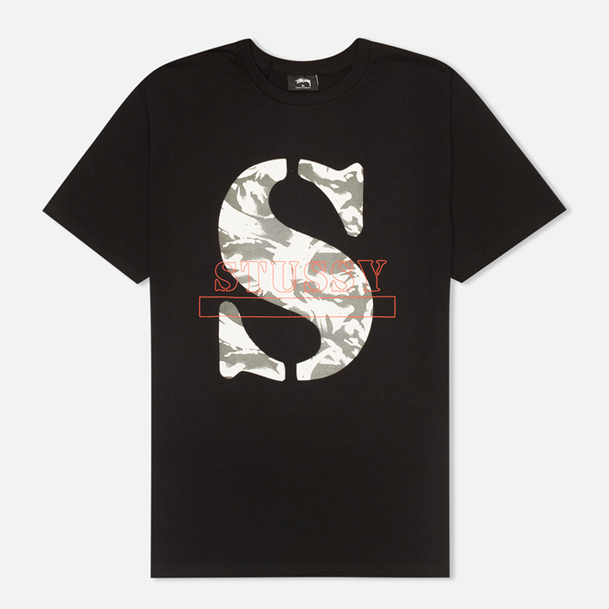 Stussy Camo S Men's T-shirt Black