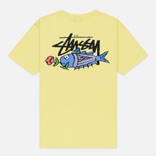 Мужская футболка Stussy Carp Stock Lemon фото- 3