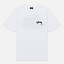 Мужская футболка Stussy Carp Stock White фото- 0