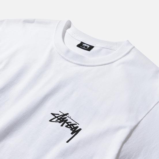 Мужская футболка Stussy Carp Stock White