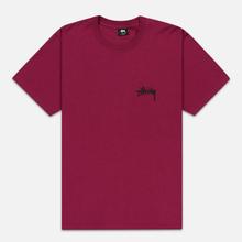 Мужская футболка Stussy Carp Stock Wine фото- 0
