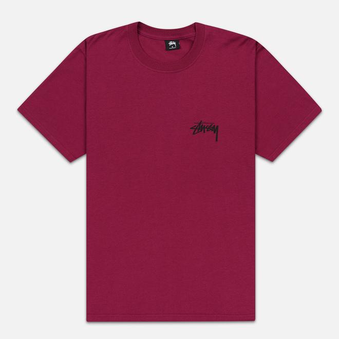Мужская футболка Stussy Carp Stock Wine