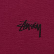 Мужская футболка Stussy Carp Stock Wine фото- 2