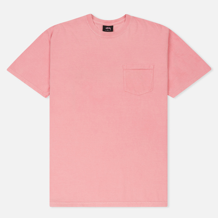 Мужская футболка Stussy Checker Stock Pigment Dye Pink