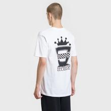 Мужская футболка Stussy Checkers White фото- 4