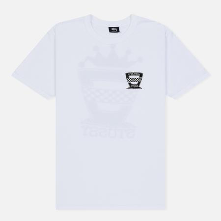 Мужская футболка Stussy Checkers White