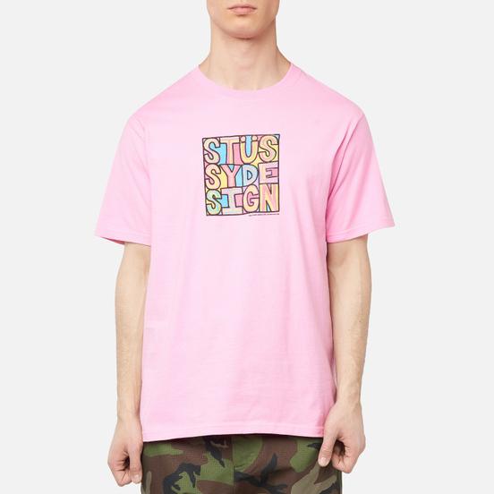 Мужская футболка Stussy Clyde Pink