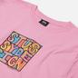 Мужская футболка Stussy Clyde Pink фото - 1