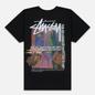 Мужская футболка Stussy Daydream Pigment Dyed Black фото - 2