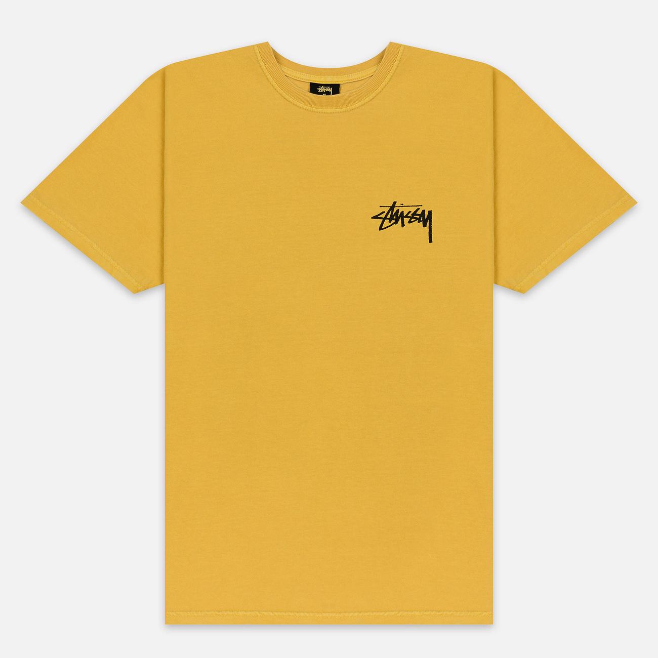 Мужская футболка Stussy Daydream Pigment Dyed Mustard