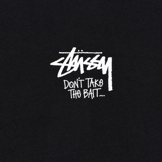 Мужская футболка Stussy Don't Take The Bait Black
