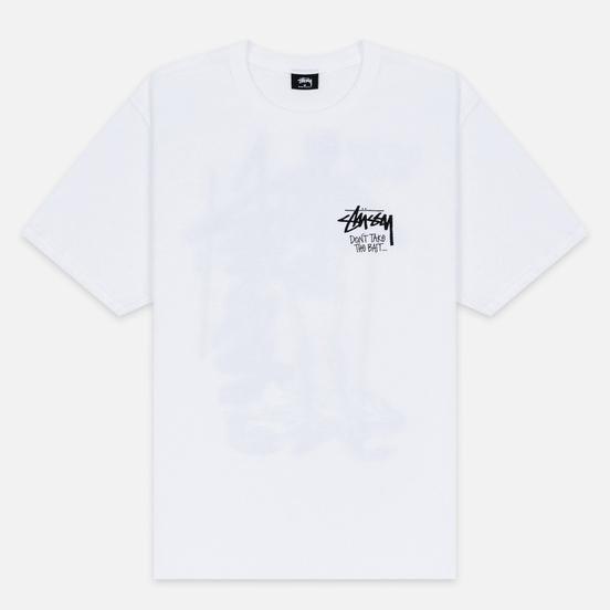 Мужская футболка Stussy Don't Take The Bait White