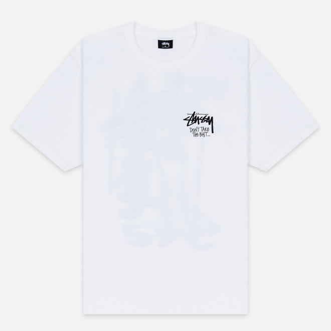 Мужская футболка Stussy Don't Take The Bait White