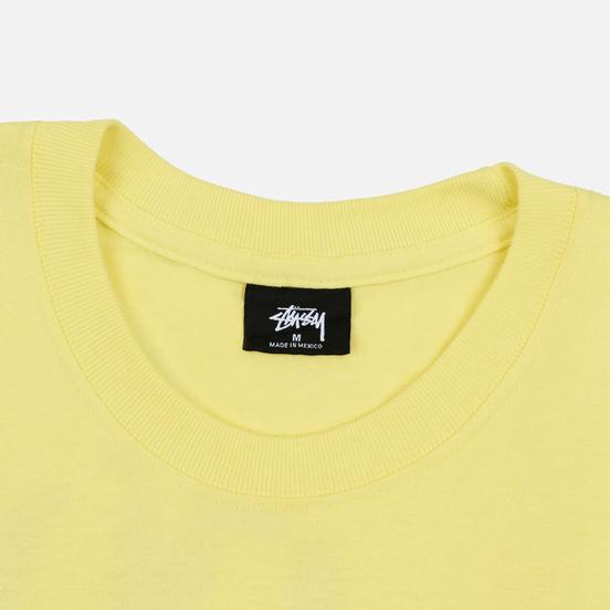 Мужская футболка Stussy Double Mask Lemon