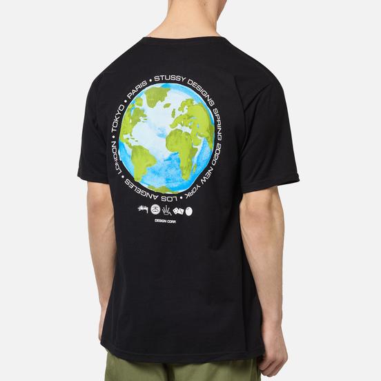 Мужская футболка Stussy Global Design Corp Black