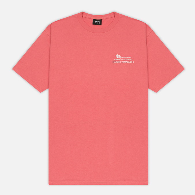 Мужская футболка Stussy Harumi Yamaguchi Nude Dark Pink