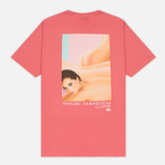 Мужская футболка Stussy Harumi Yamaguchi Nude Dark Pink фото- 3