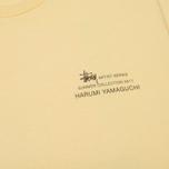 Мужская футболка Stussy Harumi Yamaguchi Nude Pale Yellow фото- 2