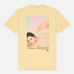 Мужская футболка Stussy Harumi Yamaguchi Nude Pale Yellow фото- 3