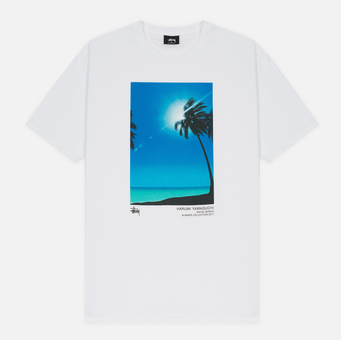 Мужская футболка Stussy Harumi Yamaguchi Palm White