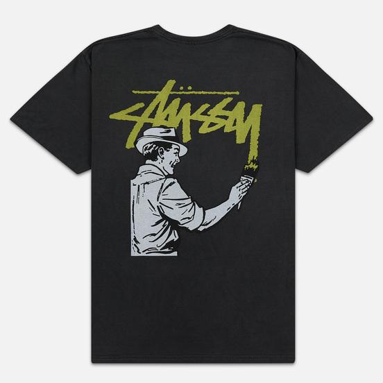 Мужская футболка Stussy Painter Pigment Dyed Black