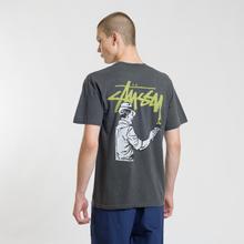 Мужская футболка Stussy Painter Pigment Dyed Black фото- 4