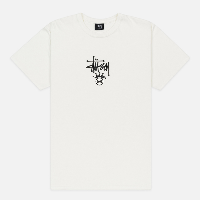 Мужская футболка Stussy S Crown Pigment Dyed Natural