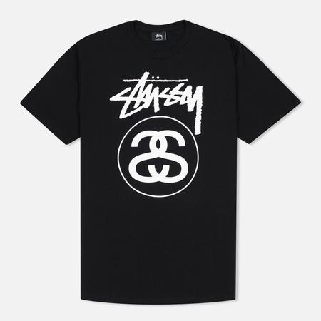 Stussy Stock Link Men's T-Shirts Black