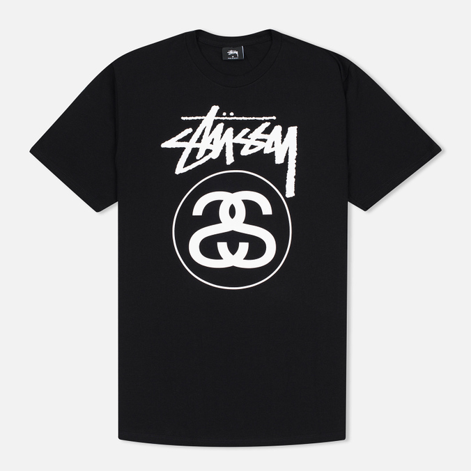 Stussy Stock Link Men's T-Shirts Black