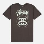 Мужская футболка Stussy Stock Link Charcoal фото- 0