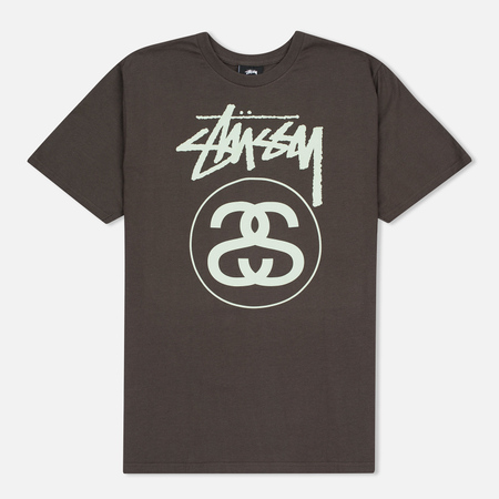 Stussy Stock Link Men's T-Shirts Charcoal