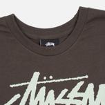 Мужская футболка Stussy Stock Link Charcoal фото- 1