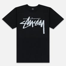 Мужская футболка Stussy Stock Pigment Dyed Black/White фото- 0